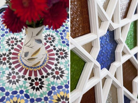 decoración mosaico árabe tradicional
