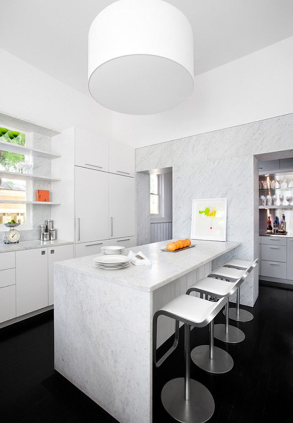 Decoración cocina moderna en blanco