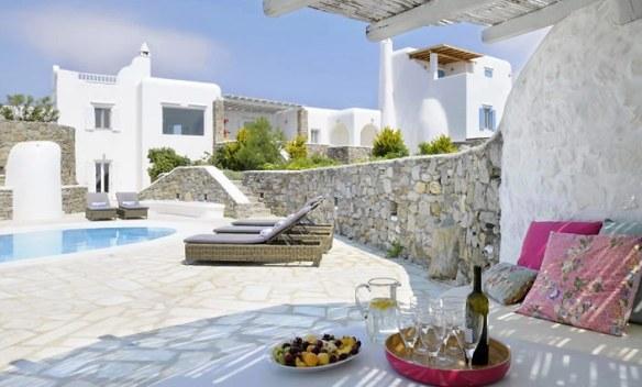 pavimento de piedra en terraza