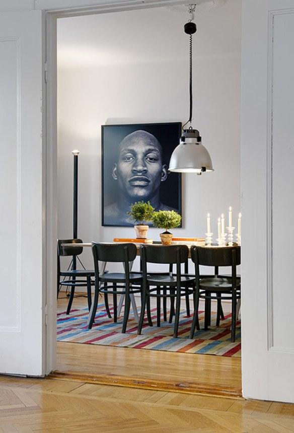 mesa comedor decorada