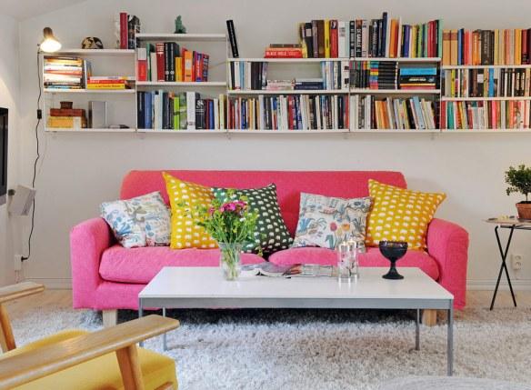 sofá color moderno