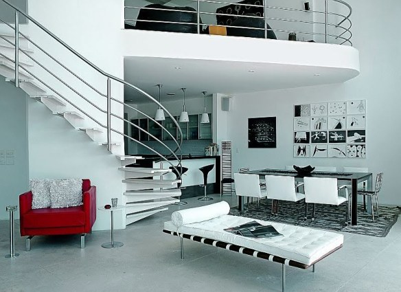 decoración blanco y rojo