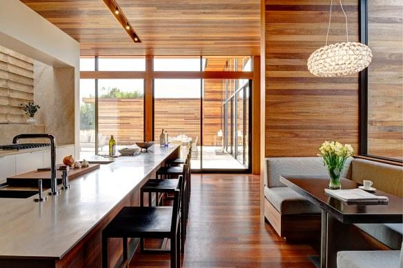 casa de madera cocina moderna
