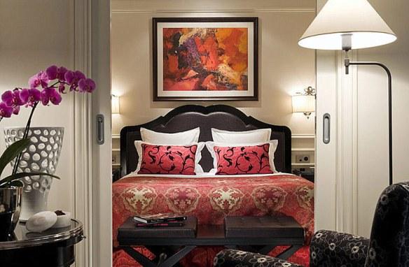 dormitorio elegante y sofisticdo