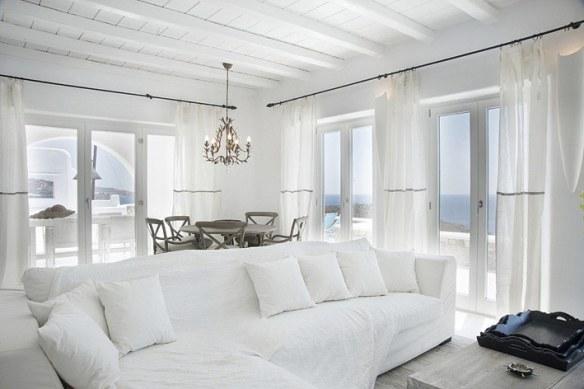 decoración sofá blanco