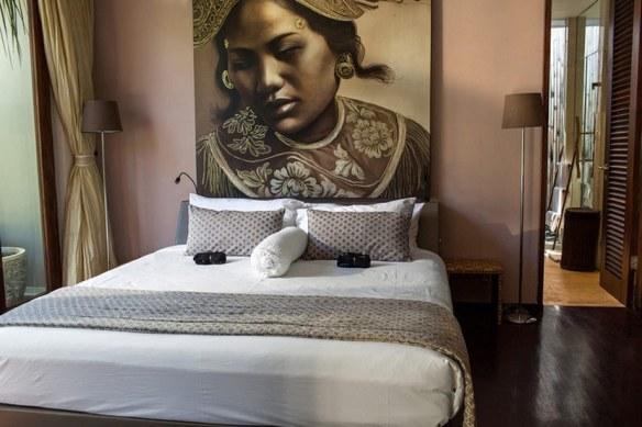 villa exótica en Bali decoración estilo étnico