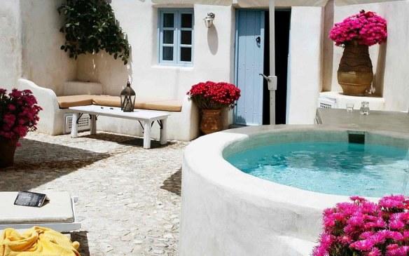 Decorar villa estilo mediterráneo islas griegas