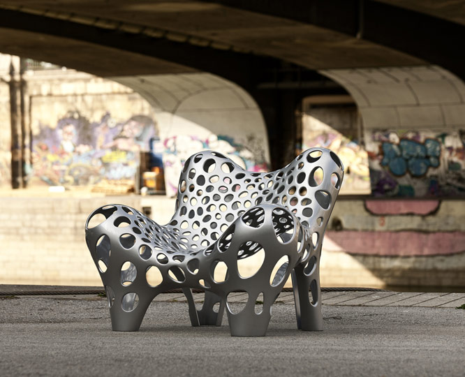diseño urbano en metal