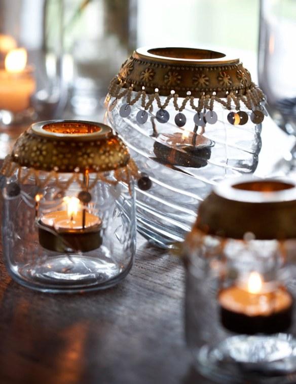 candiles con velas