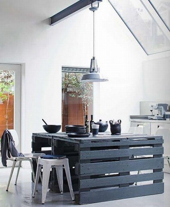 Mesa de cocina palets