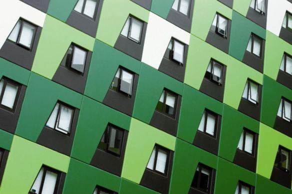 foto edificio verde