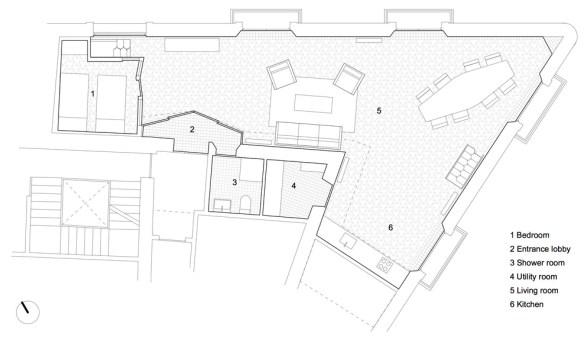 Planta apartamento carrer avinyó Barcelona