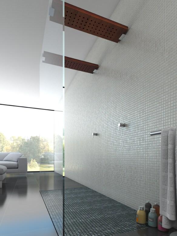 mosaico ducha doble habitación spa