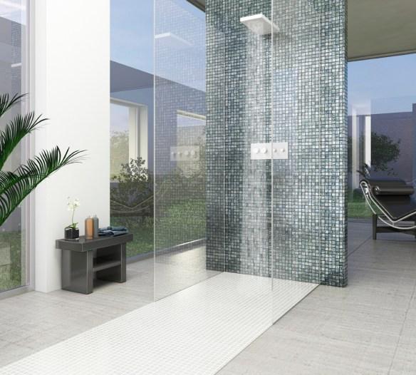 mosaico ducha habitación tótem