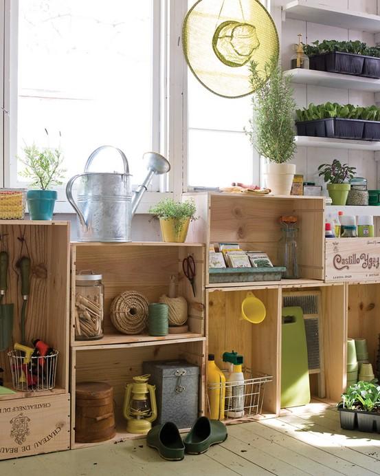 DIY Cajas de madera-almacenamiento
