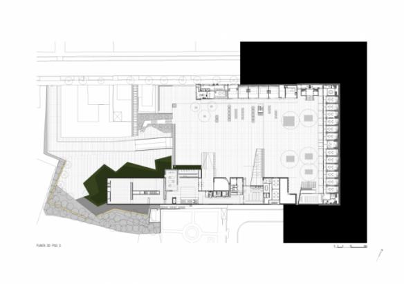 Planta baja Centro Internacional para las Artes José de Guimarães 1