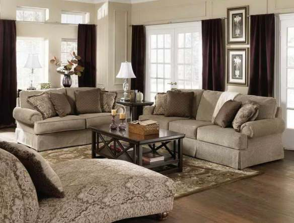 Living-Room-Paint-Colors-Ideas-With-Drapery-Brown