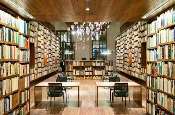 arquitectura 911sc, Moritz Bernoully, sala de estudio desde el cubo de lectura
