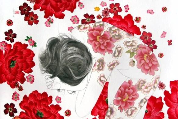 pintura-tela-flores