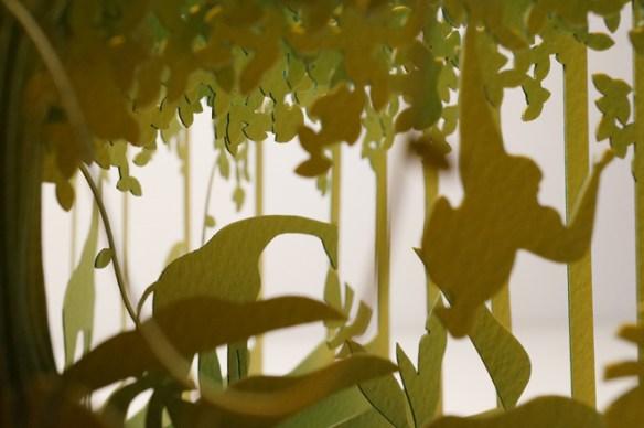 diorama El libro de la selva, jirafa