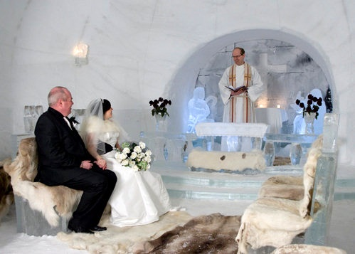 boda en hotel de hielo