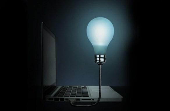 La bombilla USB que ilumina tu portátil