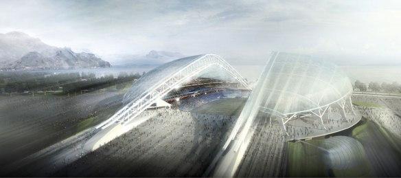 Juegos Olimpicos de Sochi, Estadio Olimpico Fisht