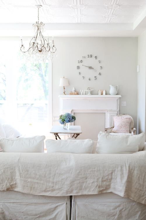 blanco fundas sofa