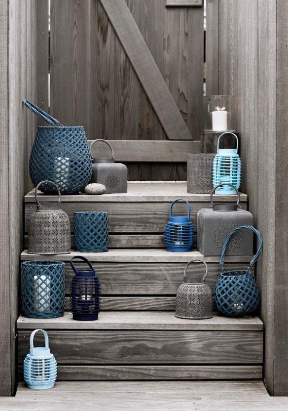decorar azul escalera colorsplash