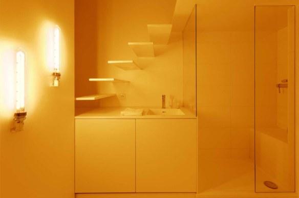 lavabo amarillo