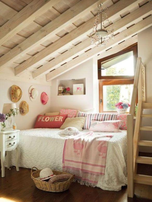 dormitorio  atico country