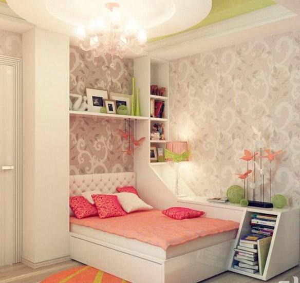 dormitorio rosa flores