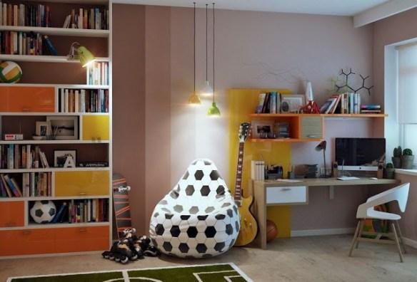 dormitorio chico escritorio futbol