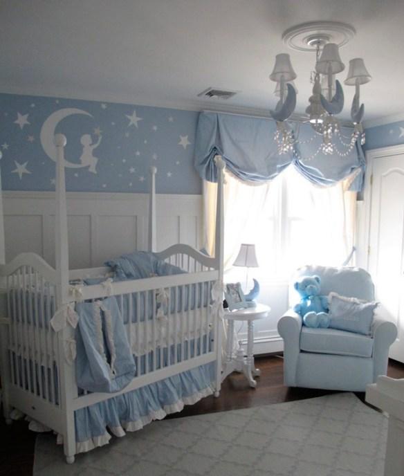 habitacion bebe azul cielo