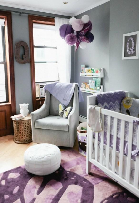 habitacion bebe morada