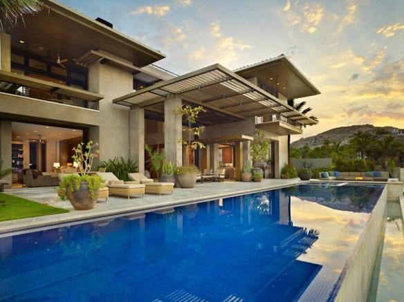 residencia piscina lateral