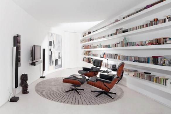 biblioteca blanca eames
