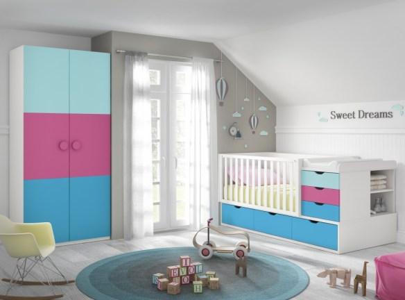 Dormitorio convertible multicolor