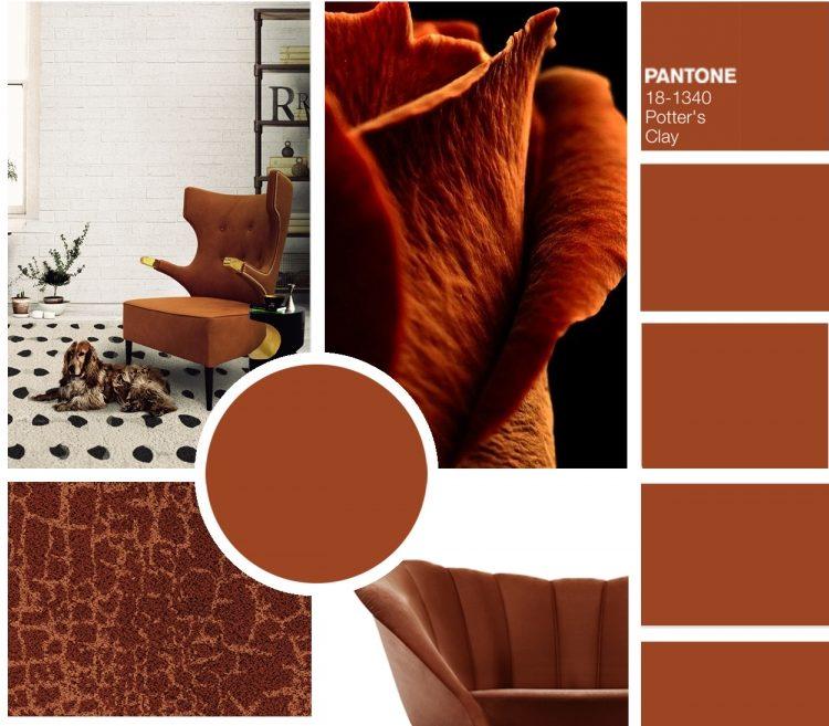 9 collages increíbles de colores de otoño segun Pantone para inspirar a su próximo decoración de interior