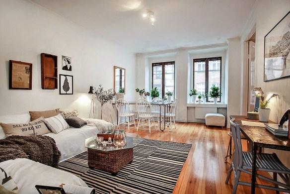 distribución de tu casa - salón con madera