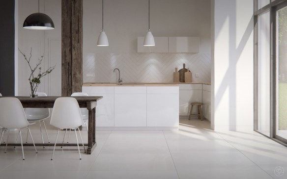 bare-scandinavian-kitchen-white-tiled-floor-open-black-framed-window
