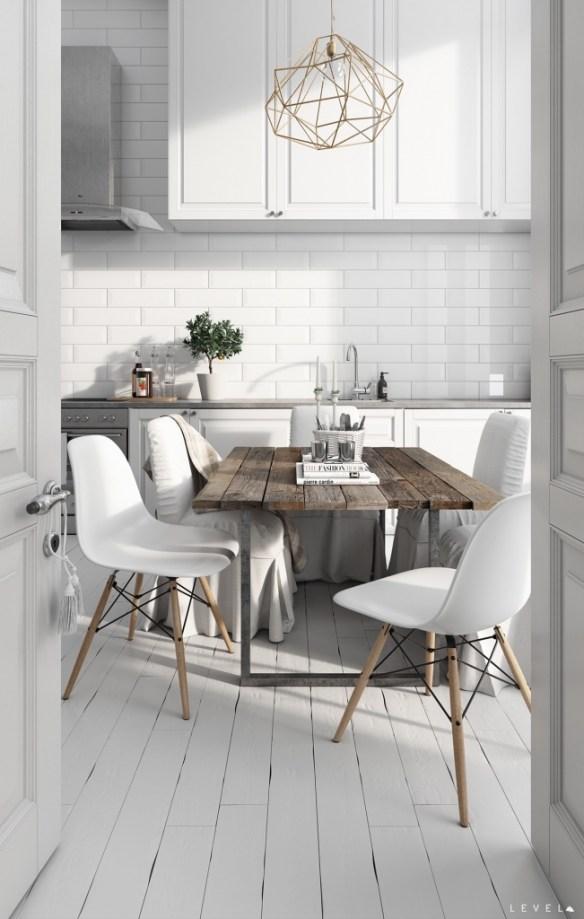 white-wood-stencil-chandelier-scandinavian-kitchen