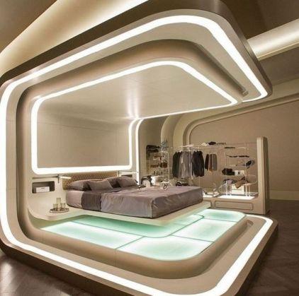 dormitorio futurista tendencia
