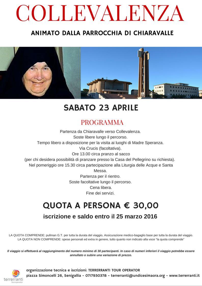 collevalenza 23 aprile 2016 Chiaravalle
