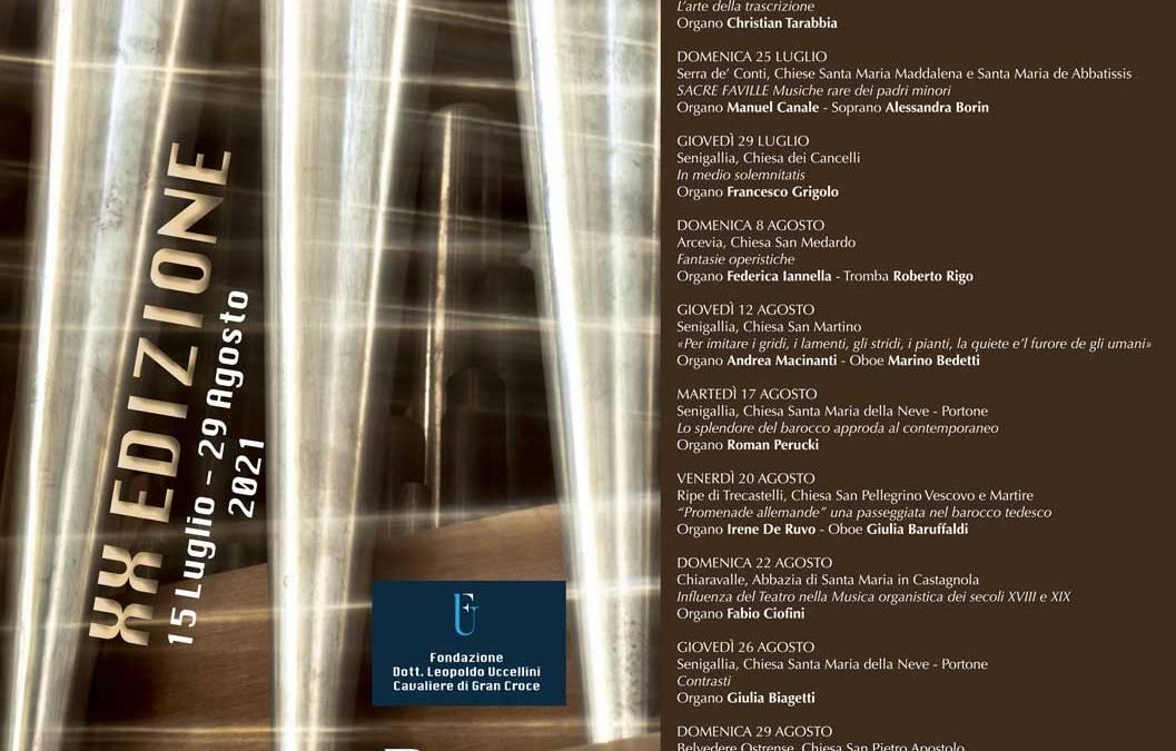 Festival Organistico Internazionale Città di Senigallia – 15 luglio – 29 agosto 2021