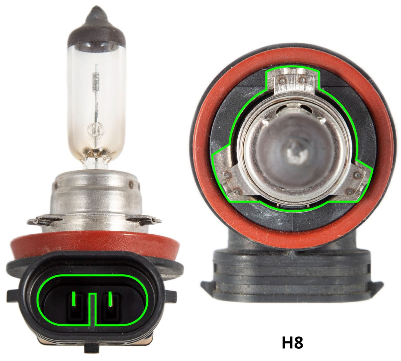 hight resolution of h8 stock bulb
