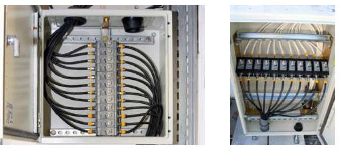 Szafki z ogranicznikami przepięć do ochrony instalacji antenowej
