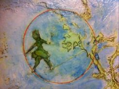 Woman on tightrope - detail 1