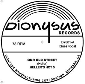 Heller's Hot Five 78 label