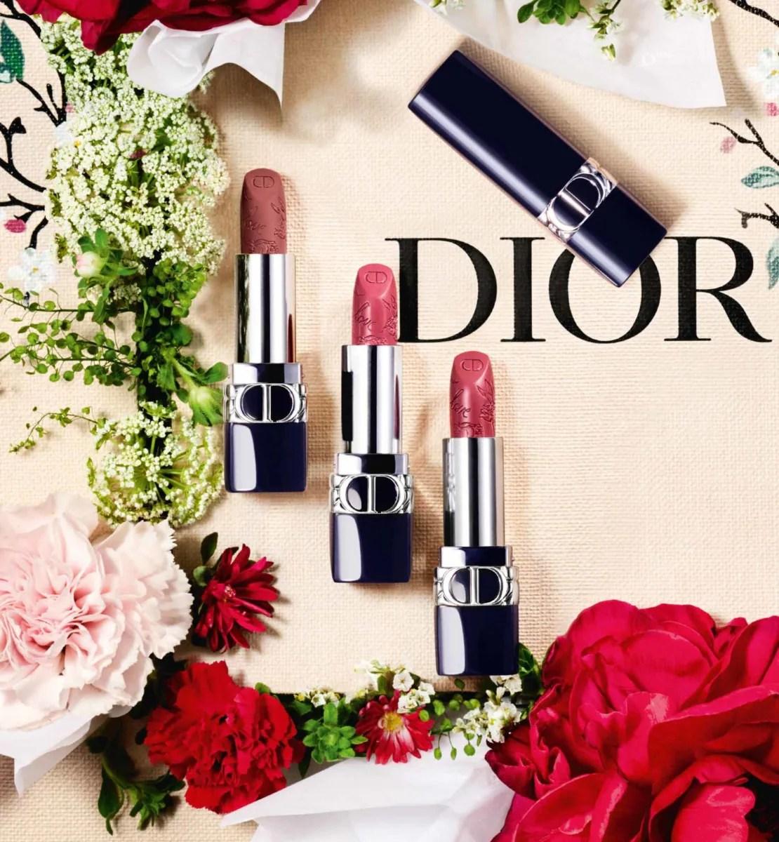 Dior - ルージュ ディオール (オンラインブティック数量限定品) クチュール カラーで彩る、リフィル式のフローラル ケア リップスティック - サテン・マット・メタリックのエフェクト - 至福の心地よさ&長時間続く仕上がり